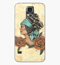 Woman With Two Roses Case/Skin for Samsung Galaxy