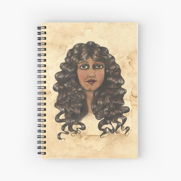 Woman With Curly Hair Spiral Notebook
