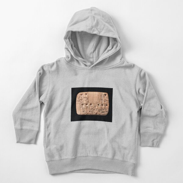 A Mesopotamian proto-cuneiform clay tablet with account of monthly rations, Late Uruk period, circa 3100-3000 BC. Toddler Pullover Hoodie