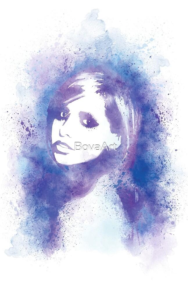 SMG Watercolor Portrait by BovaArt