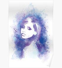 SMG Watercolor Portrait Poster