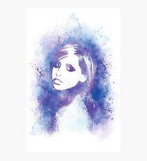 SMG Watercolor Portrait Photographic Print