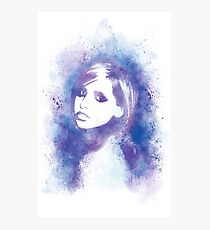 SMG Watercolor Portrait Photographic Print