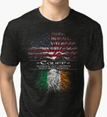Califf - American Grown with Irish Roots Tri-blend T-Shirt