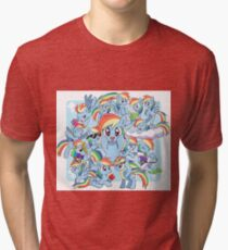 Every Rainbow Dash EVER Tri-blend T-Shirt