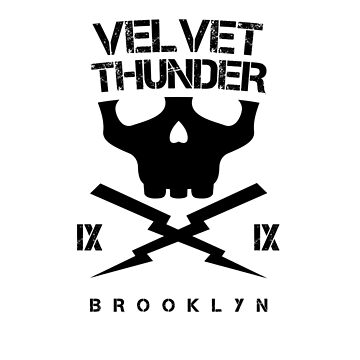 Velvet Thunder Club Black Text. by 21Posters