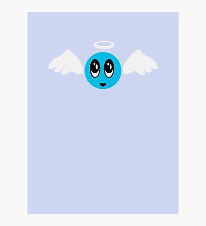 Angel Smiley (blue) VRS2 Photographic Print