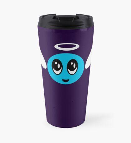 Angel Smiley (blue) VRS2 Travel Mug