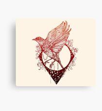 Fleeing Bird Canvas Print