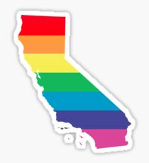 rainbow california Sticker