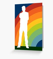 big gay rainbow Greeting Card