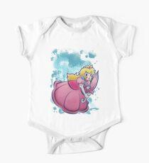 Prinzessin Pfirsich-T-Shirt Kurzärmeliger Einteiler