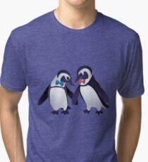 Dapper Penguins Tri-blend T-Shirt