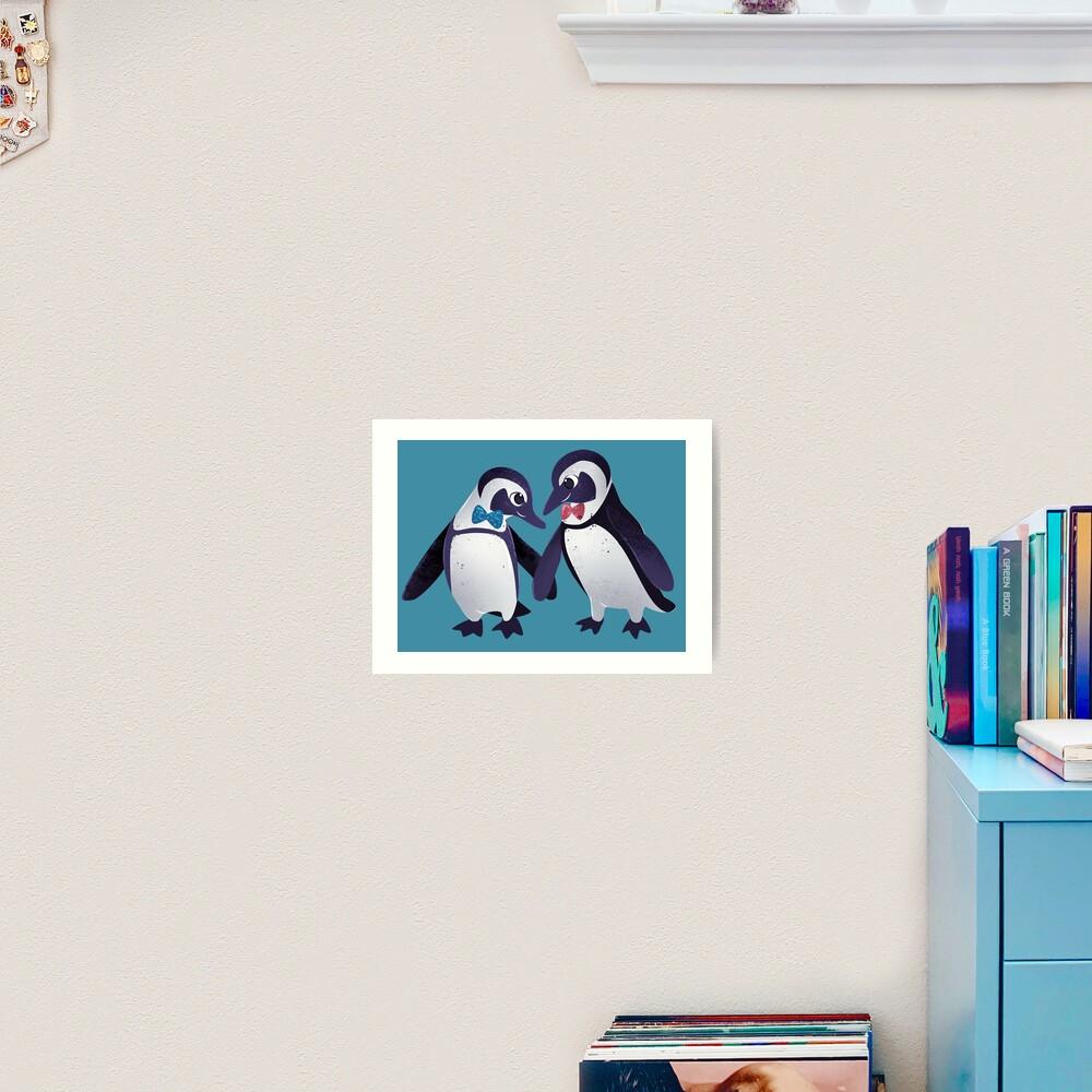 Dapper Penguins Art Print