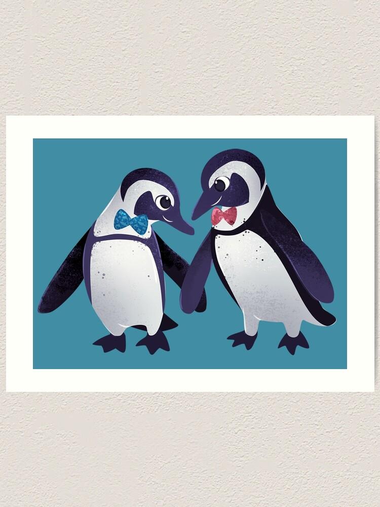 Alternate view of Dapper Penguins Art Print
