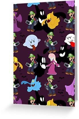 Luigi's Mansion Pattern by SaradaBoru