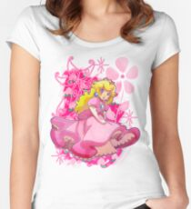 Flowery Princess Peach Women's Fitted Scoop T-Shirt