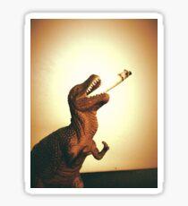 Smoking Dinosaur Sticker