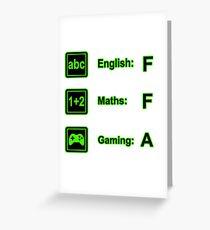 Grading Checklist Greeting Card