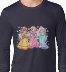 Princess Peach, Daisy and Rosalina Long Sleeve T-Shirt