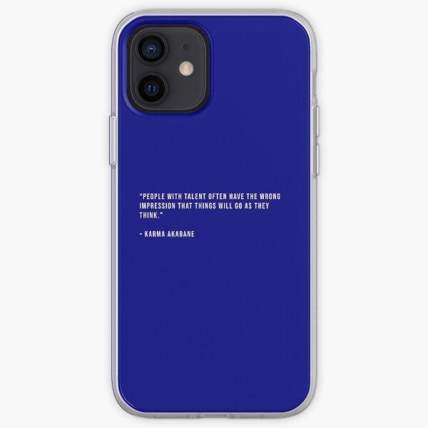 Karma Akabane - Citation Coque souple iPhone