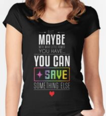 Maybe you can SAVE something else Women's Fitted Scoop T-Shirt