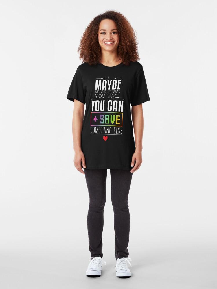 Alternative Ansicht von Vielleicht kannst du etwas anderes SPAREN Slim Fit T-Shirt