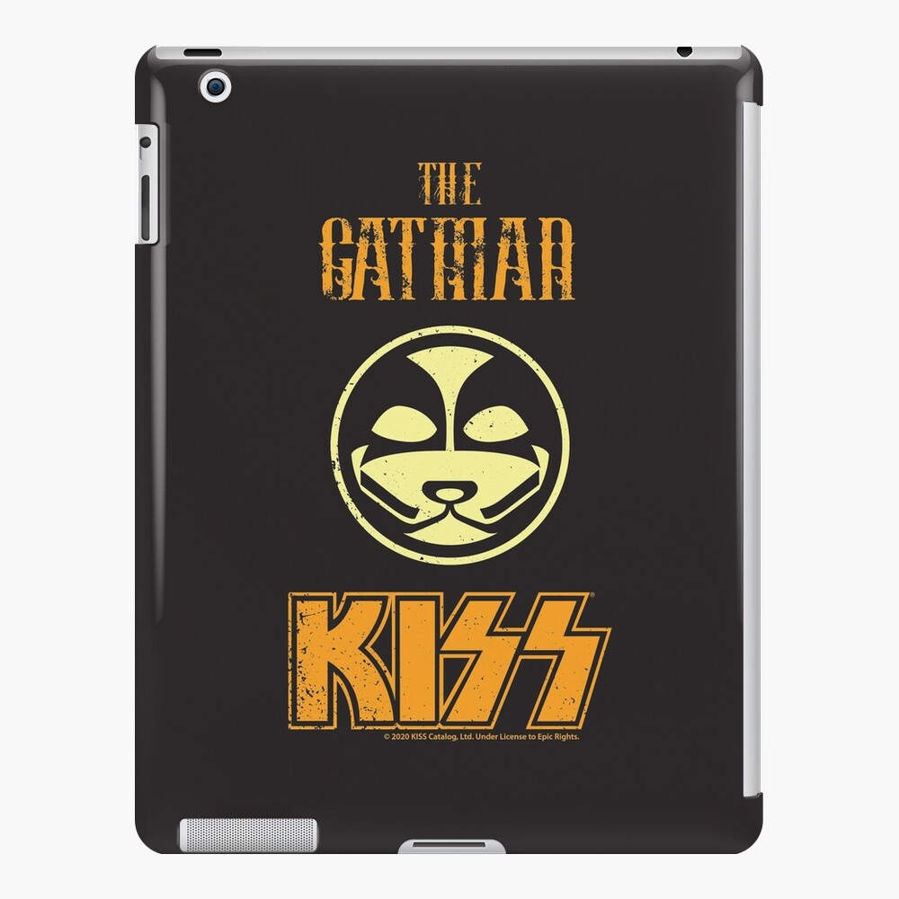 KISS Band-The Catman- Grunge Distorted vintage iPad Case & Skin