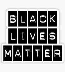 Black Lives Matter (Black Blocks Over White) Sticker
