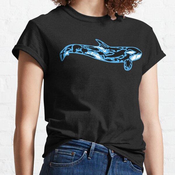 Ocean Orca  - Blue Border Classic T-Shirt