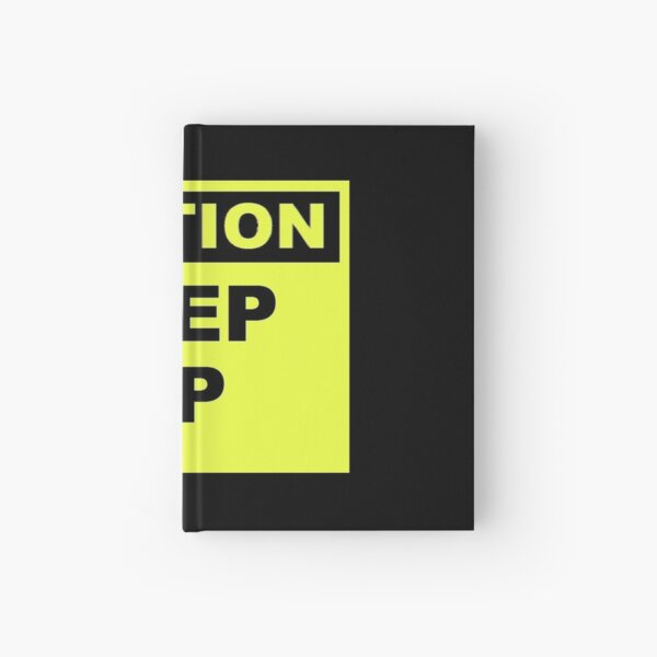 Caution Step Up Hardcover Journal