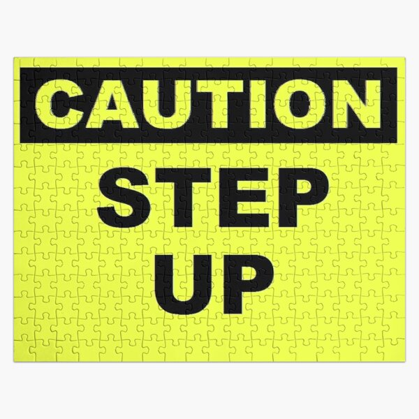 Caution Step Up Jigsaw Puzzle