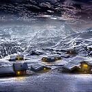 Village by night. by Larrikin  Photography