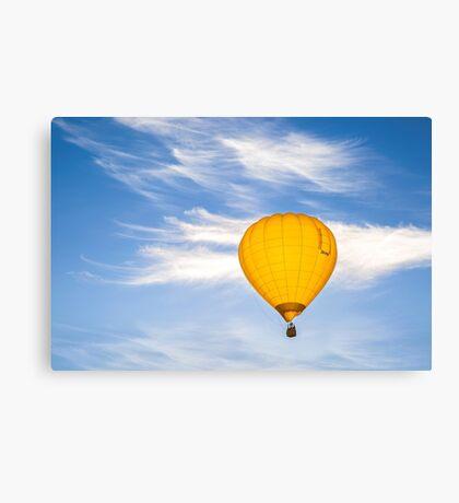 Yellow Balloon Sunrise Flight - Martinborough, NZ Canvas Print