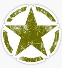 Olive Kaki Vintage American Star Sticker