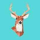 Geometric Deer by Crystal Potter