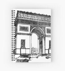 Arc de Triomphe Spiral Notebook