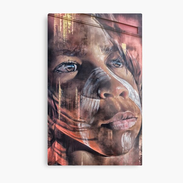 Aboriginal Child, Street Art, Hosier Lane  Metal Print