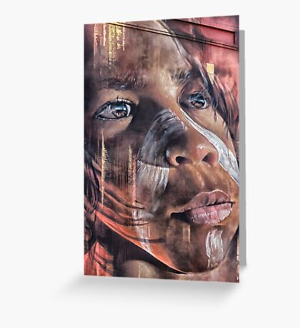 Aboriginal Child, Street Art, Hosier Lane  Greeting Card
