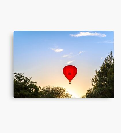 Red Poppies Hot Air Balloon in Martinborough, New Zealand Canvas Print