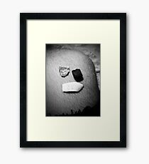 Salty Knee Framed Print