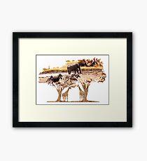 African Nature Framed Print