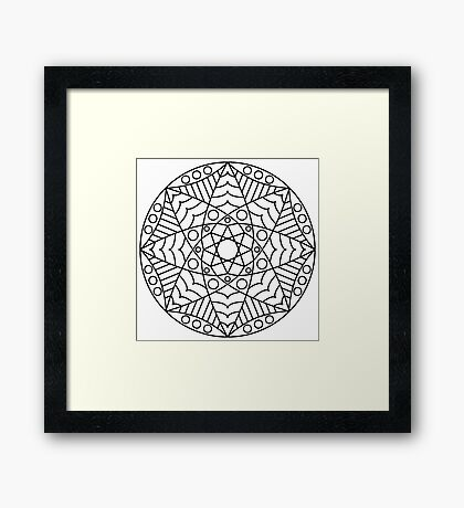 Stained Glass Mandala Framed Print