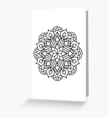 Flower and Flame Mandala Greeting Card