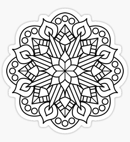 Flower and Flame Mandala Sticker