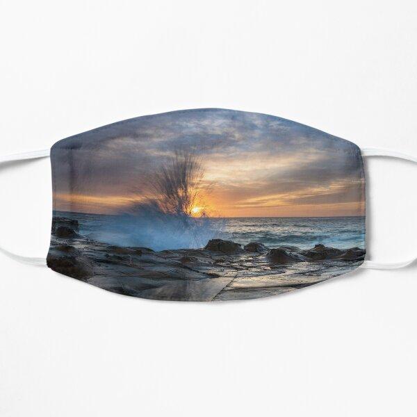 High Cloud Sunrise Seascape from Rock Platform Flat Mask