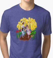 Among The Spring-Flowers Tri-blend T-Shirt