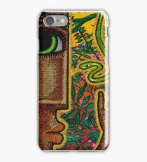 man and snake (square) iPhone Case/Skin