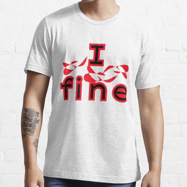 I fine t-shirt - it's fine I'm fine everything is fine Christmas lights t-shirt Essential T-Shirt