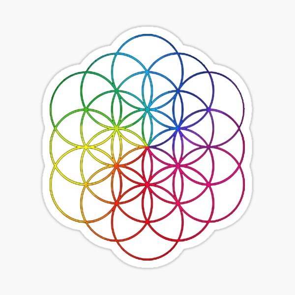 ColdPlay-Colorfull  Cover Sticker
